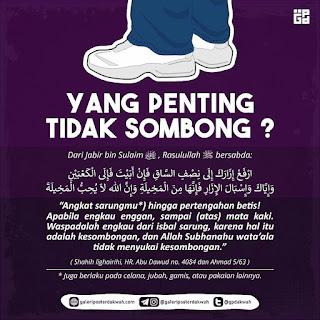 Dalil Celana Cingkrang, Bolehkah Isbal Jika Tidak Sombong?