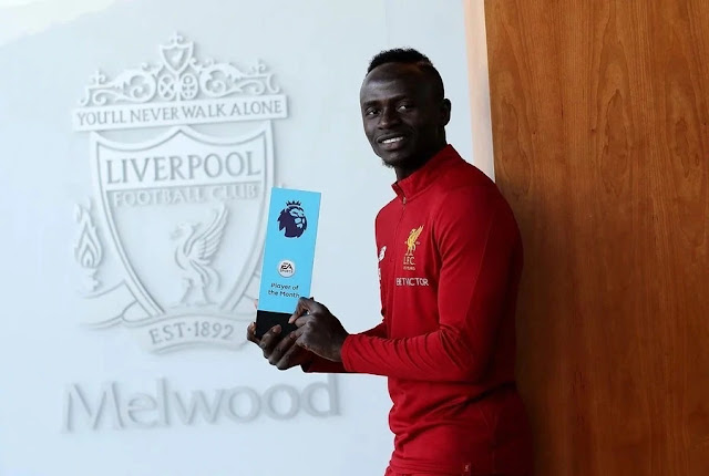 Liverpool's Mane named Premier League Player of the Month