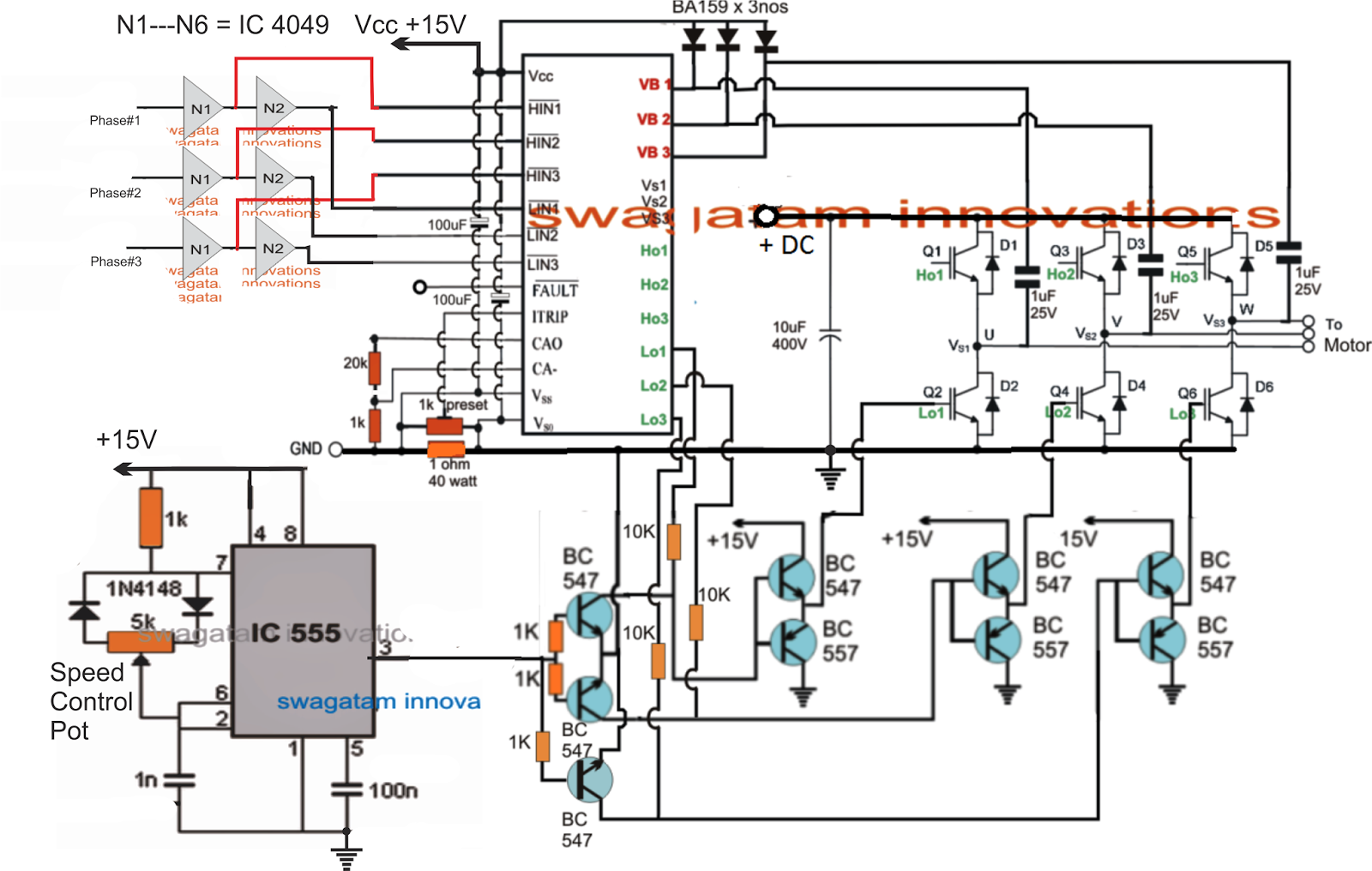 Universal esc circuit for bldc motors for Universal motor speed control circuit