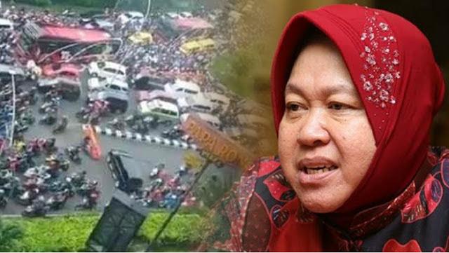PSSB Hari Pertama Surabaya Jauh Lebih Buruk dari Jakarta, Mengapa 'BuzzerRp' tak Serang Risma?
