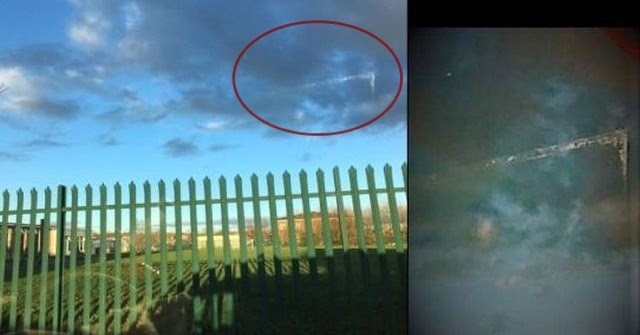 Crystal Clear V-Shaped Alien Craft Photographed over Failsworth, GB