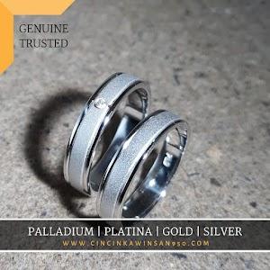 cincin kawin palladium pasangan 535