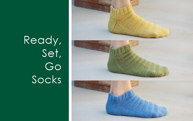 Ready, Set, Go Socks: Anatomy and Fit of 3 Top Down Knit Sock Heels - flap and gusset heel, (flapless) gusset heel, short row heel