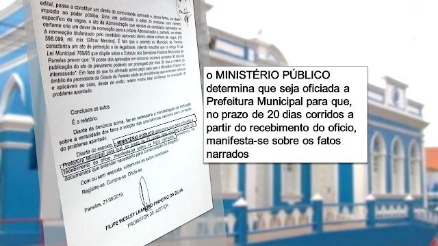 o MINISTÉRIO PÚBLICO determina que seja oficiada a Prefeitura Municipal para que, no prazo de 20 dias corridos a partir do recebimento do oficio, manifesta-se sobre os fatos narrados