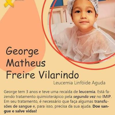 Na luta contra o câncer, crianças de Delmiro Gouveia e Mata Grande, precisam de doações de sangue