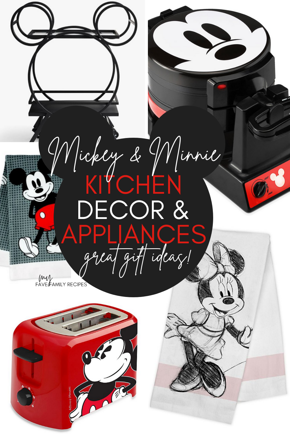 Disney® Mickey and Minnie Kitchen Decor - Towels, Appliances, Dishes - Great Gift Ideas!