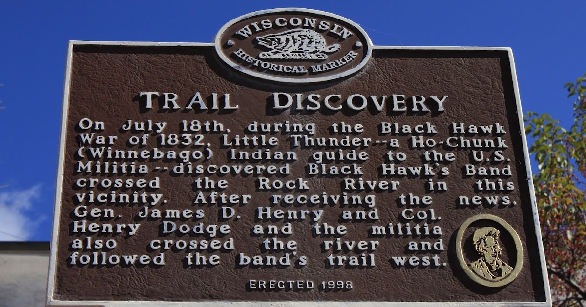 Indian Trail Dodge >> Wisconsin Historical Markers: Marker 409: Trail Discovery