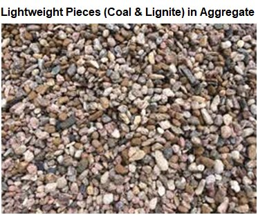 Determination of Lightweight Pieces (Coal and Lignite) in Aggregate
