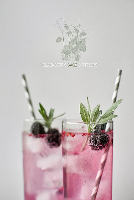 yummy: Blackberry and Sage spritzers with recipe link