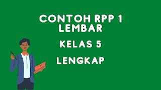 RPP Kelas 5 Daring Format Satu Lembar