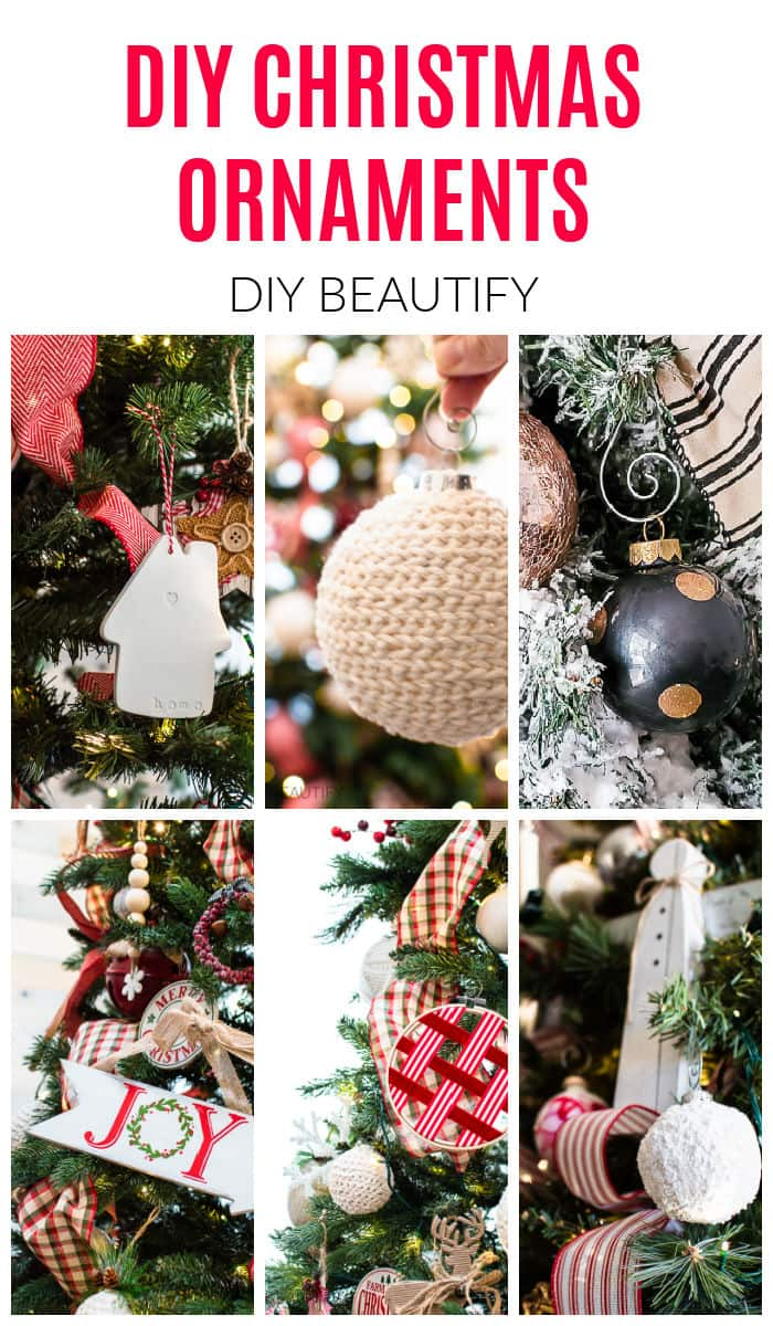 DIY Christmas ornaments and ornament display ideas by DIY Beautify