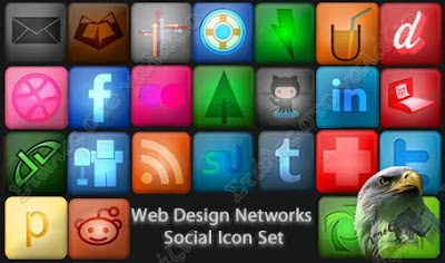 Web Design Networks Social Icon Set, Social Bookmarks Icons, Icons