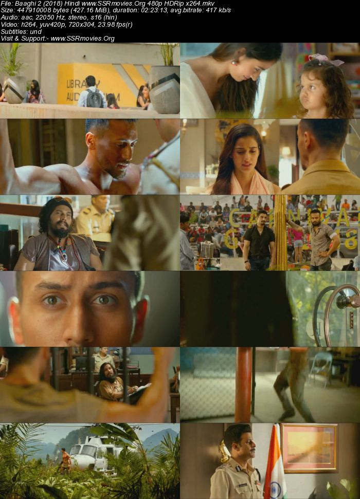 Baaghi 2 (2018) Hindi 480p HDRip