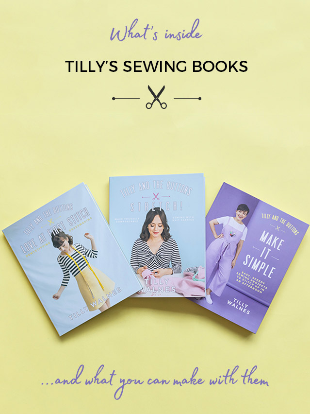 Tilly's sewing books and what you can make with them!