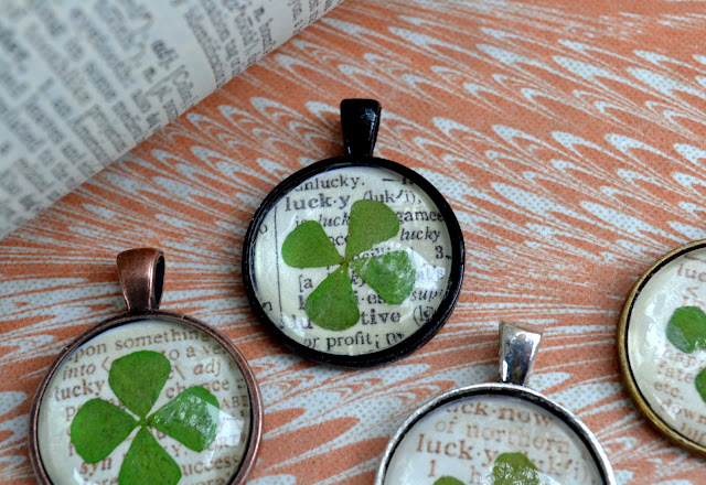 St Patrick S Day Craft Lucky Clover Pendant Necklace