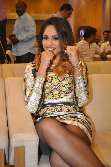 Mumtaz Sorcar Hot Stills at Guru Telugu Movie Audio Launch