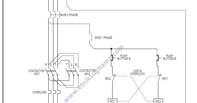 Etnik Sugitama  Gambar Diagram Rangkaian Magnet Kontactor