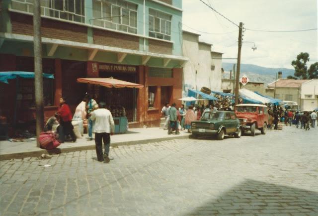 Fotografías de La Paz (Bolivia) en los años 80