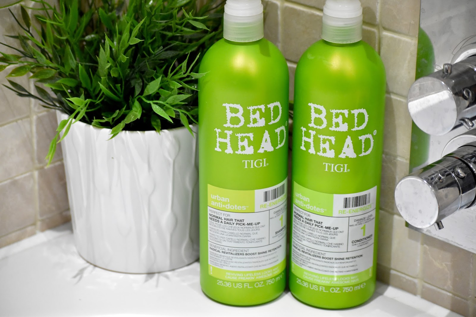 Bed Head shampoo and conditioner