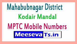 Kodair Mandal MPTC Mobile Numbers List Mahabubnagar District in Telangana State