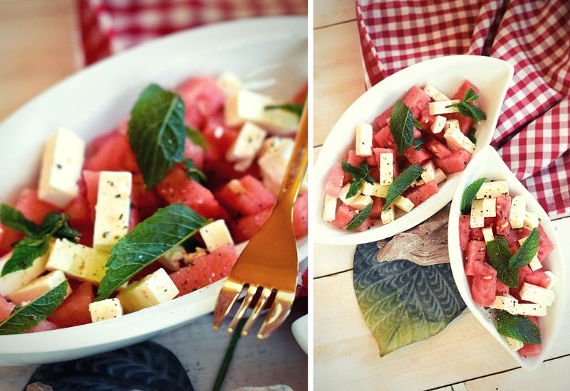 Wassermelone-Feta-Salat-Rezept-Zubereitung