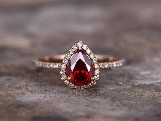 Non Diamond Engagement Rings Ruby