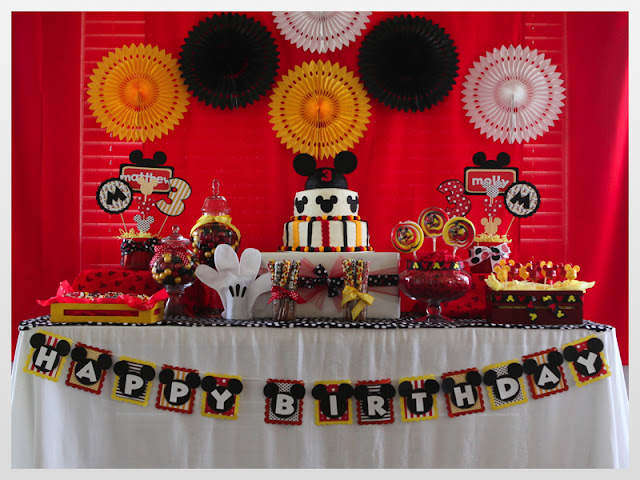 Mikili Just A Little Party . . . : Twin Boy/girl Mickey & Minnie