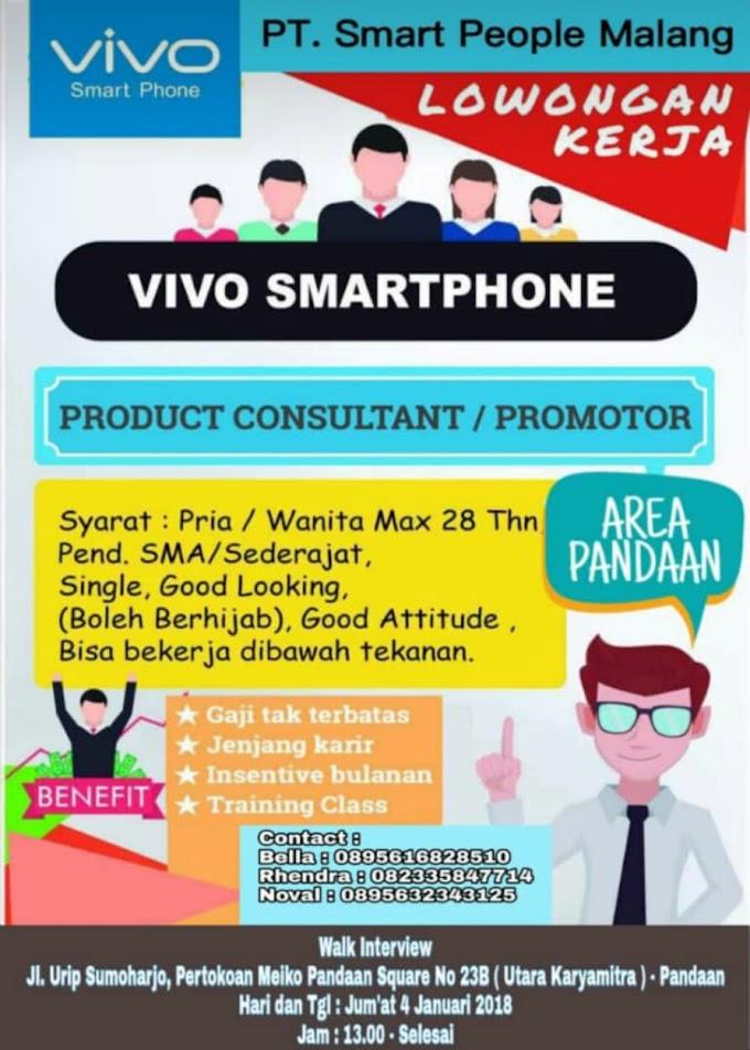 Dibutuhkan Promotor Vivo Smartphone Area Pandaan