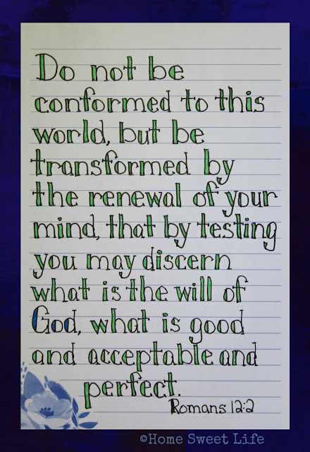 Scripture Writing, Romans 12:2