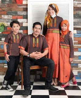 Baju muslim sarimbit keluarga untuk lebaran modis