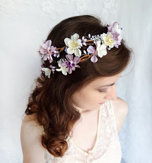 Purple Hair Pieces For Weddings