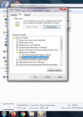Computer me folder kaise unhide kare