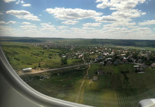 Anflug auf Chișinău, Moldawien