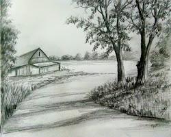 pencil drawing sketch scenery landscape easy techniques drawings tutorial lockdown nature beginners painting oil fancy kid pastel