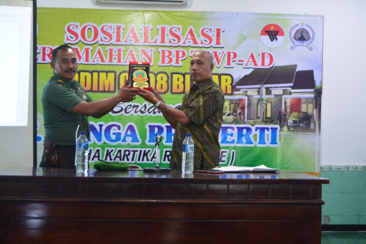 Personel Kodim 0808/Blitar, Terima Sosialisasi Perumahan BP TWP-AD
