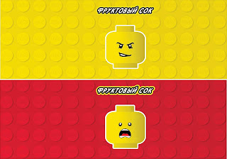 Free Printable Candy Bar Labels for a Lego Party.