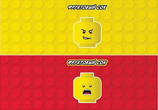 Etiquetas para Candy Bar para Fiesta de Lego para Imprimir Gratis.