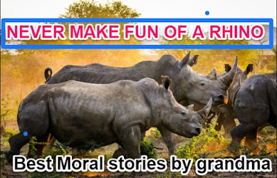 Best Moral stories by grandma :NEVER MAKE FUN OF A RHINO
