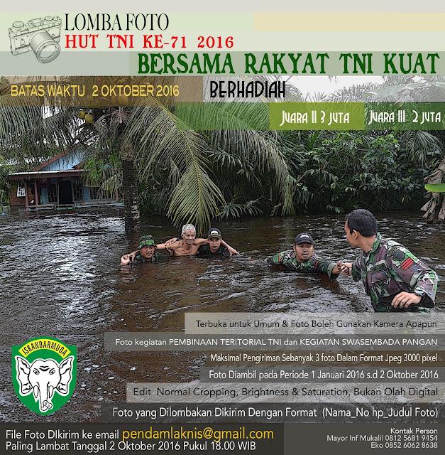 Asik.. Hadiah Lomba Foto HUT TNI Ke-71 Ditambah