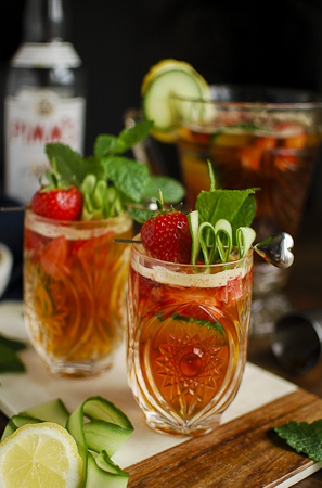 Pimms cocktail, the perfect sunshiney drink.