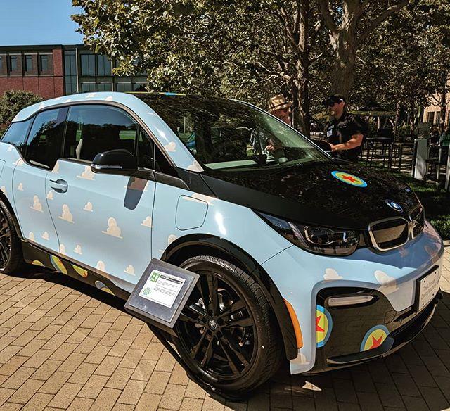 Pixar-themed BMW i3 at the MotoExpo