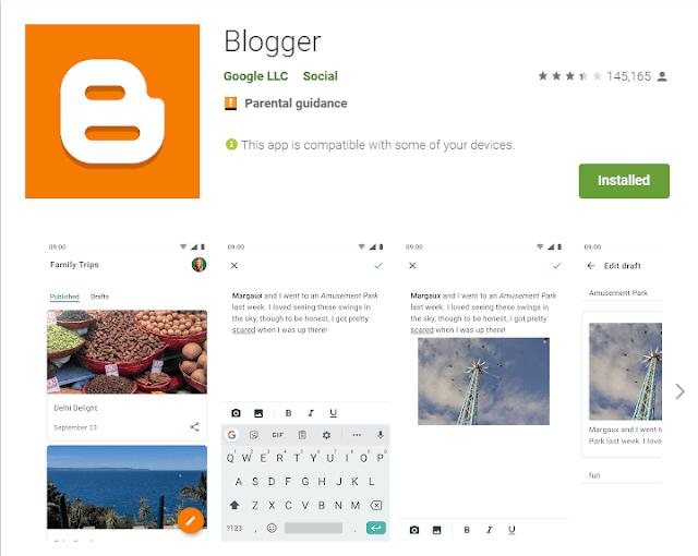 Yenilenen Blogger Android Apk Uygulamasına Merhaba! Hemen indir