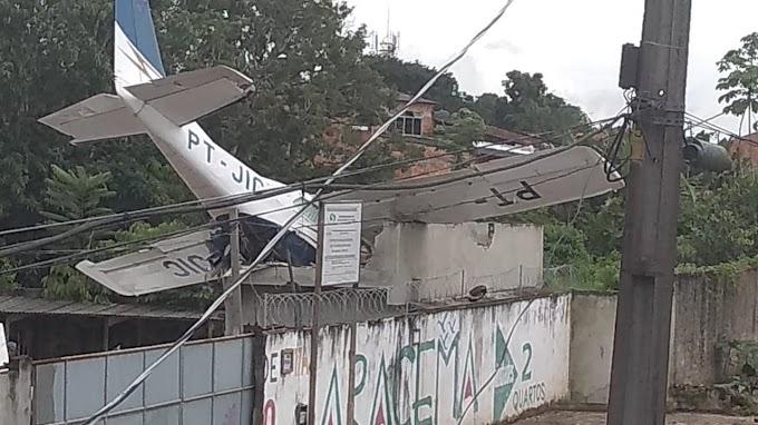 Avião cai e deixa um homem morto e dois feridos no bairro do Benguí, em Belém