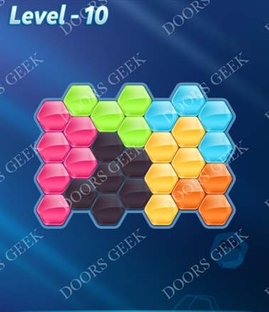Block! Hexa Puzzle [6 Mania] Level 10 Solution, Cheats, Walkthrough for android, iphone, ipad, ipod