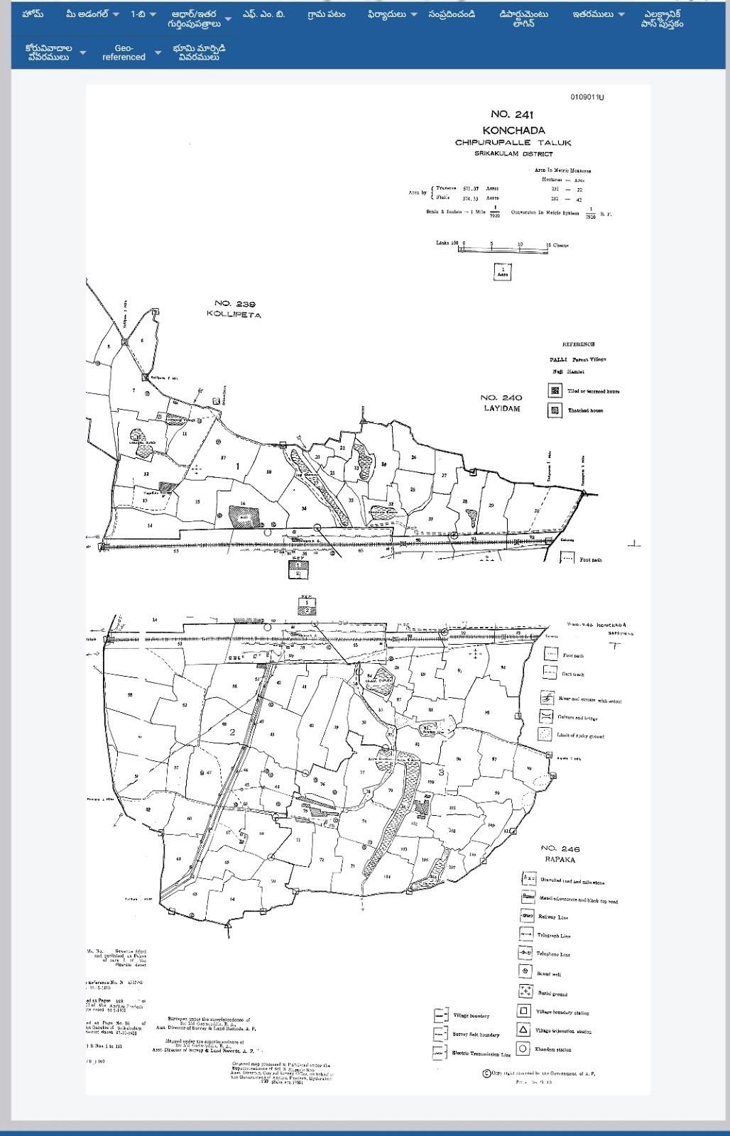 Mee Bhoomi Village Map