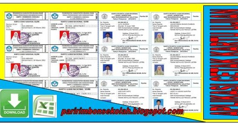 Download Aplikasi Cetak Kartu Ujian Untuk Sd Mi Smp