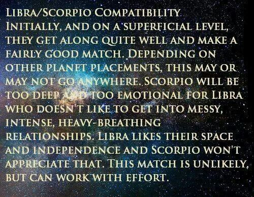 Is libra compatible with scorpio