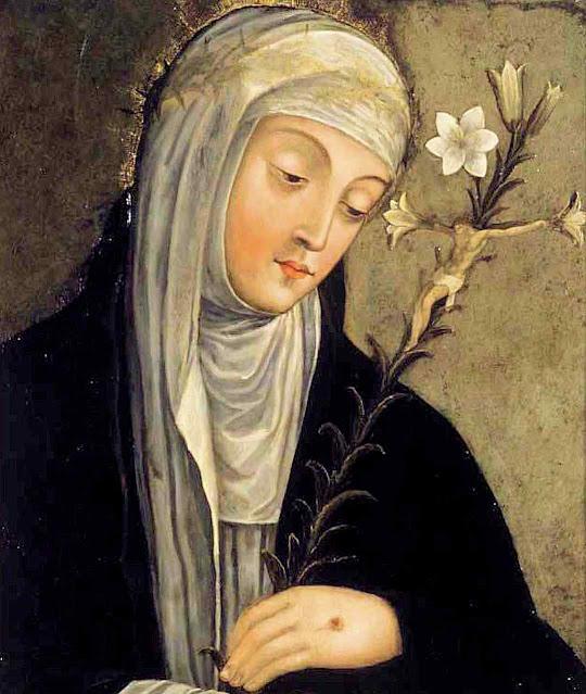 Santa Catarina de Siena. Giovanni di Paolo (1399 - 1482). Brooklyn Museum