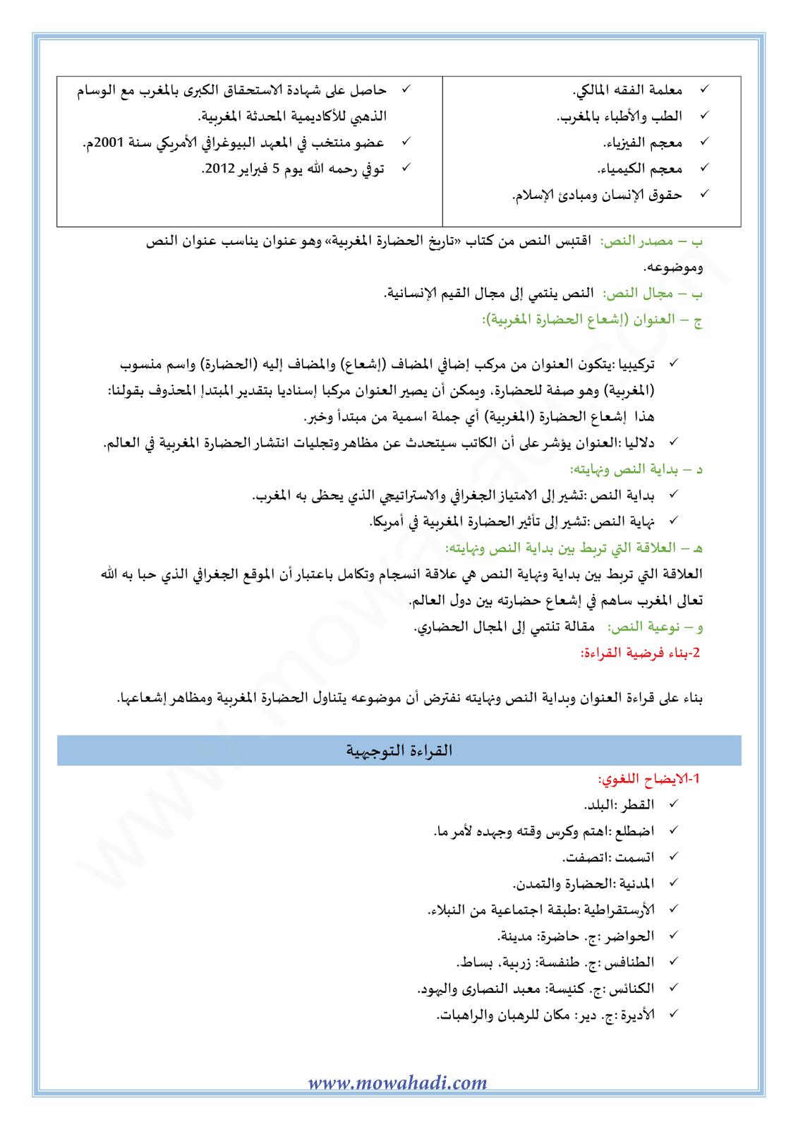 إشعاع الحضارة المغربية1