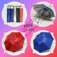 Payung Lipat 3 Sarung kain (L3 355) Atas
